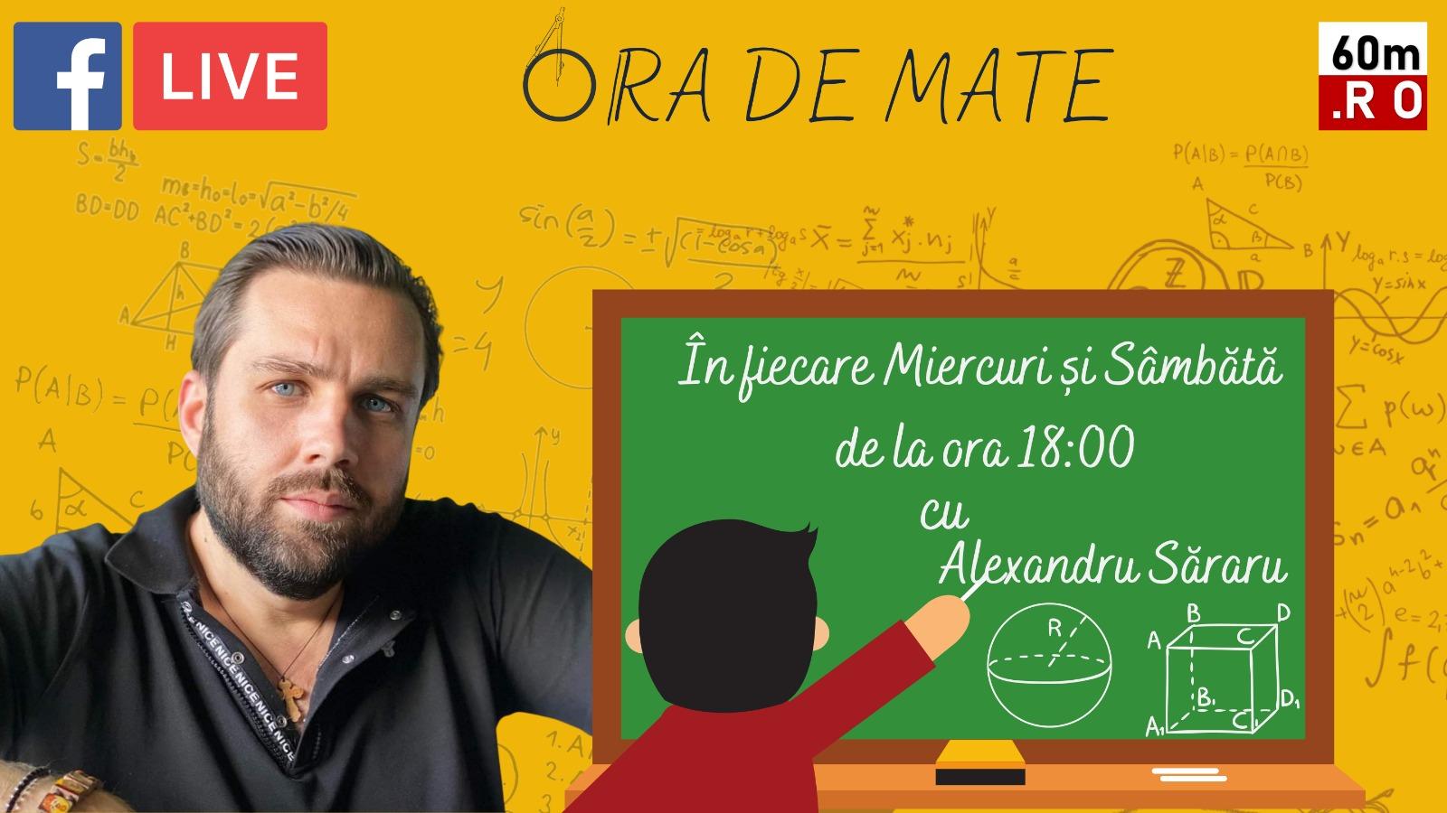 Ora de Mate cu profesorul Alexandru Săraru – TIPURI DE FRACȚII 03.03.2021