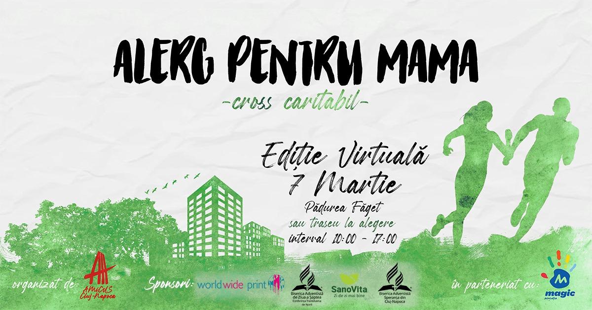 """""""Alerg pentru mama"""", cross caritabil virtual din Cluj pentru copiii diagnosticați cu cancer"""