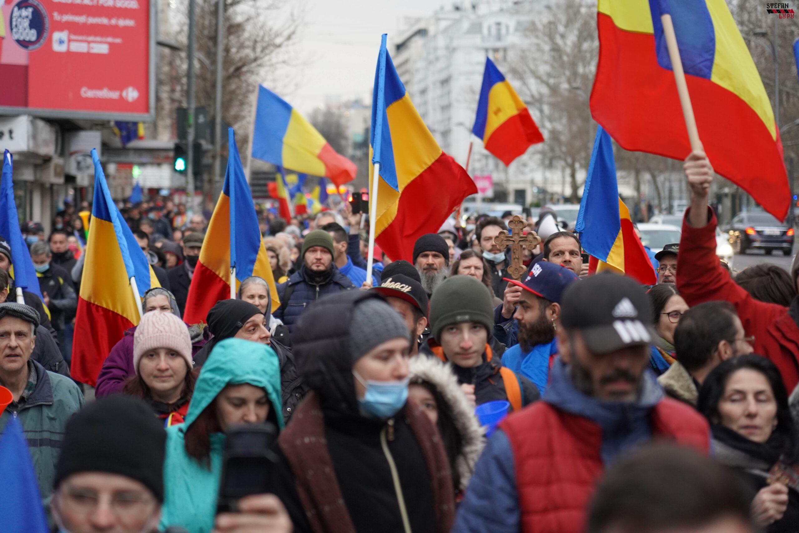 GALERIE FOTO   Protestul din București împotriva restricțiilor abuzive, 3 aprilie 2021