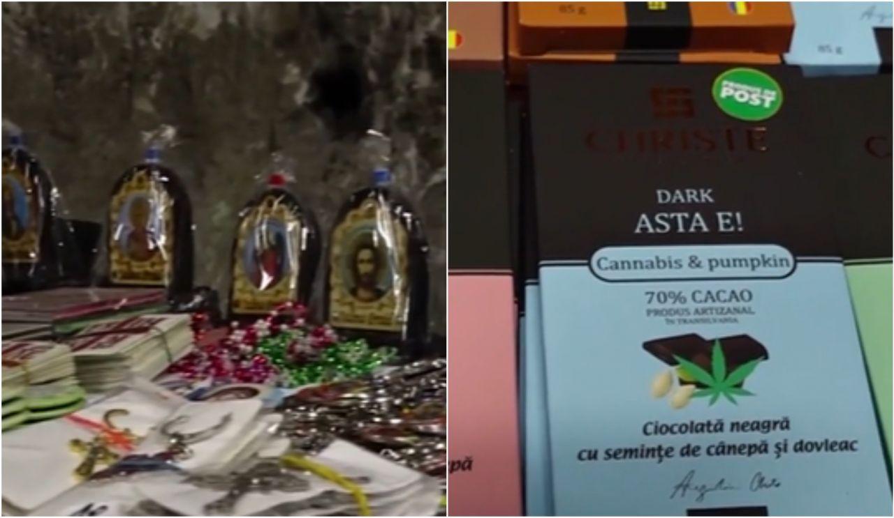 """Turiștii, la înghesuială să cumpere ciocolată cu cannabis, făcută de un preot din Cluj: """"Nu e drog. E unsă cu dragoste"""""""